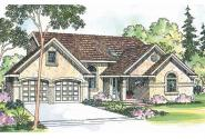 Southwest House Plan - Siena 30-186 - Front Elevation
