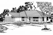 Southwest House Plan - Verona 11-074 - Front Elevation