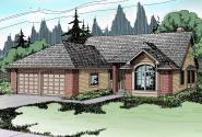 Traditional House Plan - Akron 10-038 - Front Elevation