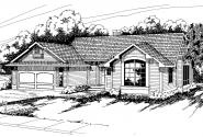 Traditional House Plan - Austin 10-051 - Front Elevation