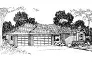 Traditional House Plan - Hillsboro 30-057 - Front Elevation