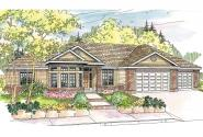 Traditional House Plan - Hollyview 30-554 - Front Elevation