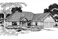 Traditional House Plan - Marcus 30-039 - Front Elevation