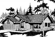 Traditional House Plan - Monroe 10-072 - Front Elevation