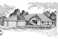 Traditional House Plan - Waterford 30-078 - Front Elevation