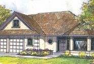 Strasbourg - 30-146 - Mediterranean Home Plan - Front Elevation