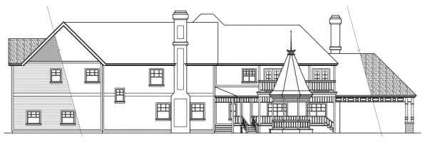 Victorian - 10-027 - Estate Home Plans - Rear Elevation