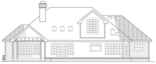 Melrose - 10-047 - Traditional Home Plans - Rear Elevation