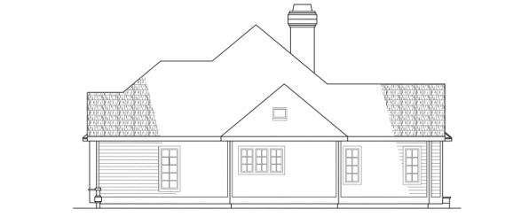 Melrose - 10-047 - Traditional Home Plans - Right Elevation