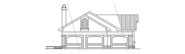 Beaumont - 10-052 - Ranch Home Plans - Left Elevation