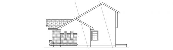 Beaumont - 10-052 - Ranch Home Plans - Right Elevation