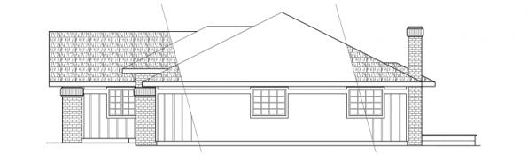 Jefferson - 10-056 - Ranch Home Plans - Right Elevation