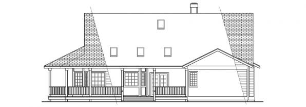 Cortland - 10-195 - Country Home Plans - Rear Elevation