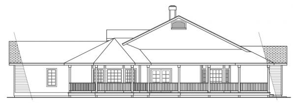 Cortland - 10-195 - Country Home Plans - Right Elevation