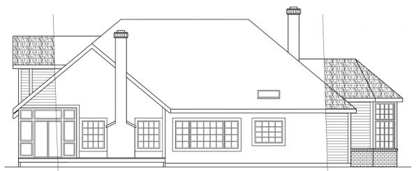 Blueridge - 10-205 - Contemporary Home Plans - Rear Elevation
