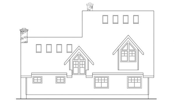 Avondale - 10-347 - Lodge Home Plans - Rear Elevation