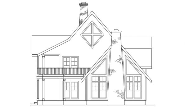 Avondale - 10-347 - Lodge Home Plans - Right Elevation