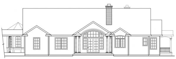 Greenbriar - 10-401 - Country Home Plans - Rear Elevation