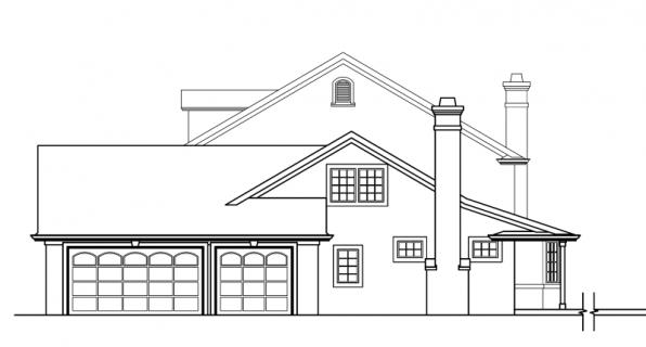 Palmary - 10-404 - Estate Home Plans - Right Elevation