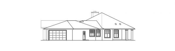 Aberdeen - 10-428 - Hexagonal Home Plans - Right Elevation