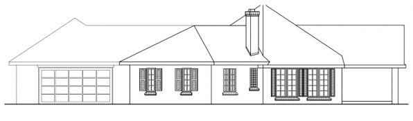 Hamilton - 10-446 - Hexagonal Home Plans - Right Elevation