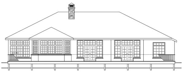 Stevenson - 10-502 - European Home Plans - Rear Elevation