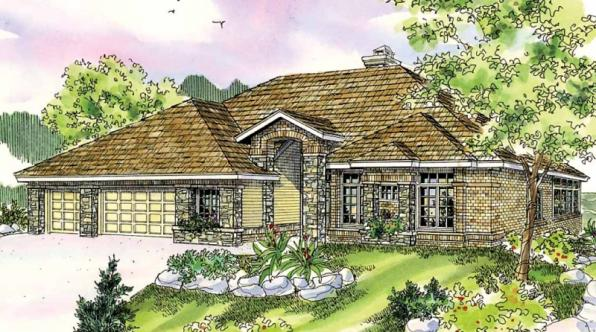 Stevenson - 10-502 - European Home Plans - Front Elevation