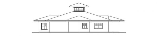 Flora Vista - 10-546 - Mediterranean Home Plans - Rear Elevation