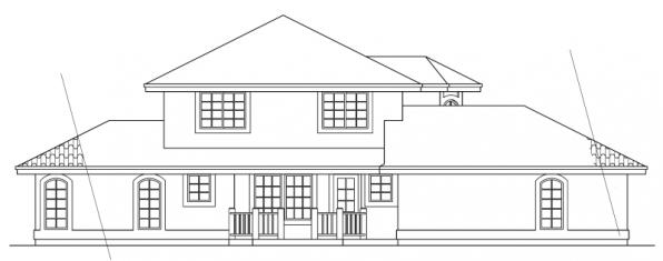 Sequoia - 11-013 - Mediterranean Home Plans - Left Elevation