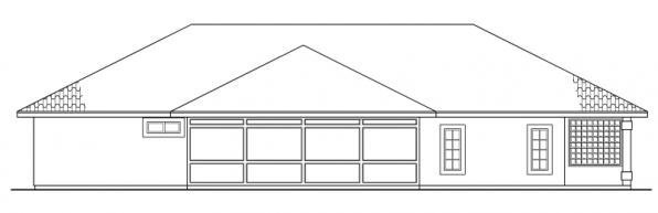 Bryant - 11-024 - Mediterranean Home Plans - Rear Elevation