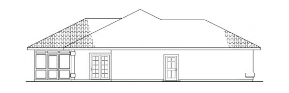 Bryant - 11-024 - Mediterranean Home Plans - Left Elevation