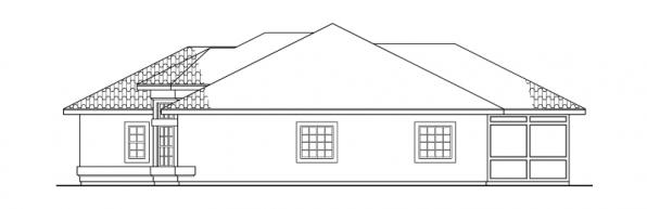 Bryant - 11-024 - Mediterranean Home Plans - Right Elevation