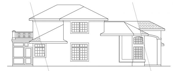Warrington - 11-036 - Southwestern Home Plans - Left Elevation