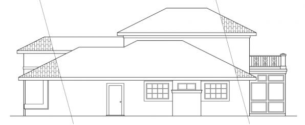 Warrington - 11-036 - Southwestern Home Plans - Right Elevation