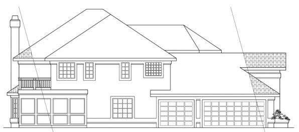 Stanfield - 11-084 - Spanish Home Plans - Left Elevation