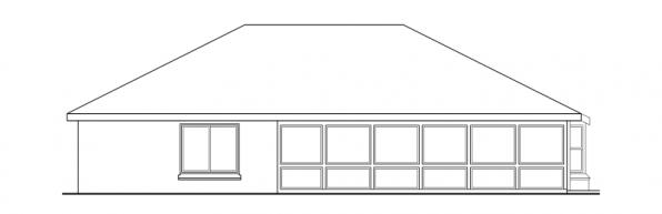 Crosbyton - 11-136 - Traditional Home Plans - Rear Elevation