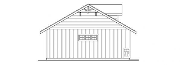 Garage w/Hobby Room- 20-034 - Garage Plans - Left Elevation