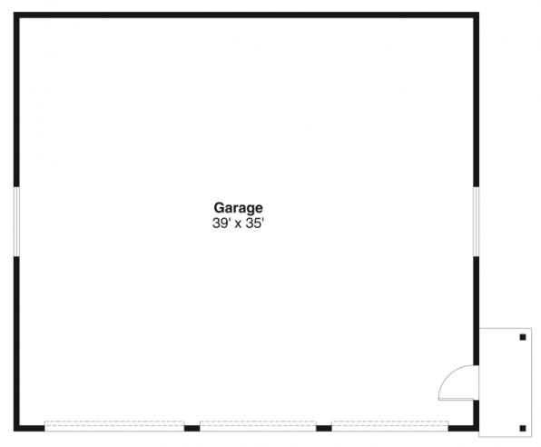 6 car Garage - 20-038 - Garage Plans - Floor Plan