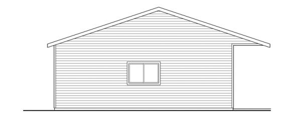6 car Garage - 20-038 - Garage Plans - Left Elevation