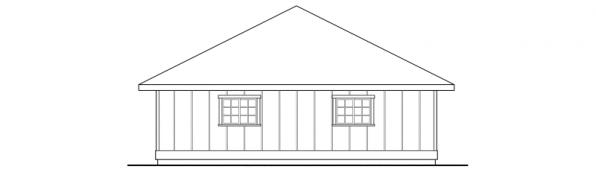 Garage w/Shop & Storage - 20-050 - Garage Plans - Right Elevation