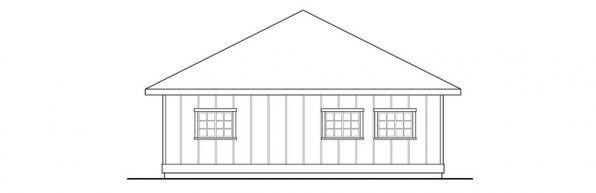 2 car Garage w/Carport - 20-066 - Garage Plans - Left Elevation