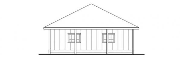 2 car Garage w/Carport - 20-066 - Garage Plans - Right Elevation