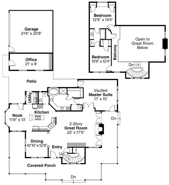 Atkinson - 30-060 - Country Home Plans - Floor Plan