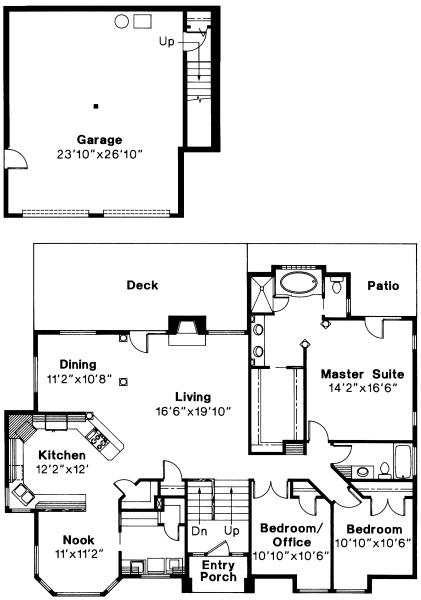 Lenox - 30-066 - Contemporary Home Plans - Floor Plan