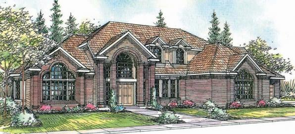 Aroland - 30-121 - Contemporary Home Plan - Front Elevation