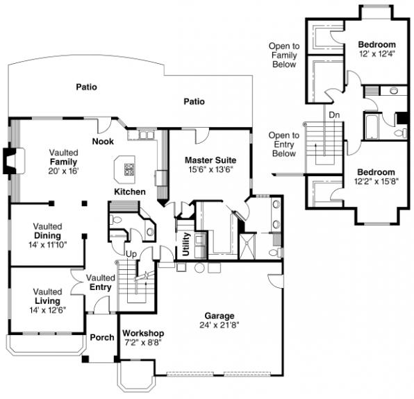 Gilcrest - 30-270 - Contemporary Home Plan - Floor Plan