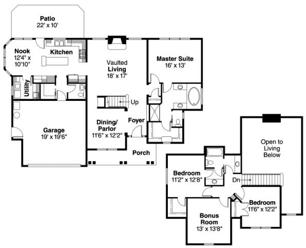 Fitzgerald - 30-492 - Chateau Home Plan - Floor Plan