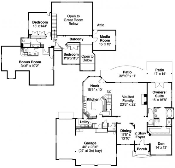 Yorkshire - 30-505 - European Home Plan - Floor Plan