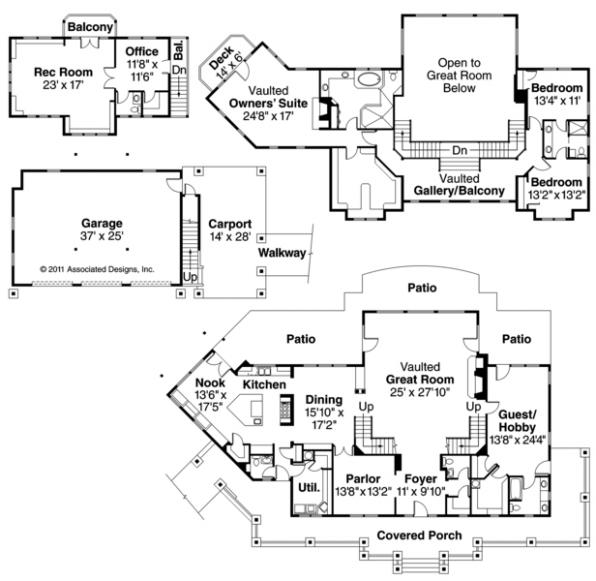 Summerfield - 30-611 - Estate Home Plan - Floor Plan