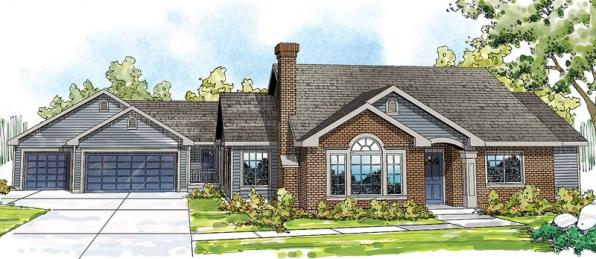 Ardella - 30-785 - Ranch Home Plan - Front Elevation